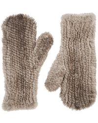 Barneys New York - Knitted Mink Fur Mittens - Lyst