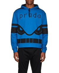 Prada - Cassette-print Cotton French Terry Hoodie - Lyst
