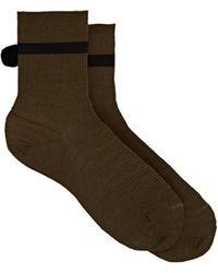 Antipast - Pom-pom-embellished Wool-blend Mid-calf Socks - Lyst