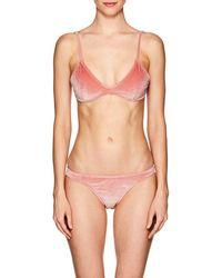 Suboo - Velvet Bikini Top - Lyst