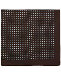 Bigi - Polka Dot Silk Pocket Square - Lyst