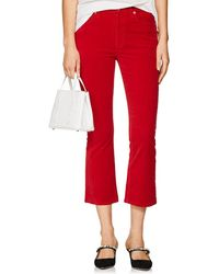 RE/DONE - Velvet Crop Flare Trousers - Lyst