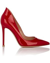 Gianvito Rossi - Ellipsis Patent Leather Pumps - Lyst