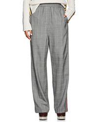 CALVIN KLEIN 205W39NYC - Embellished Glen Plaid Wool Track Pants - Lyst