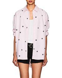 Current/Elliott - Mira Star-print Cotton Oxford Blouse - Lyst