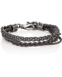 Emanuele Bicocchi - Foxtail Chain Bracelet - Lyst