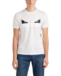 Fendi - Bag Bugs Cotton T-shirt - Lyst 365f6c3cda361