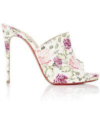 Christian Louboutin   Pigamule Leather Mules   Lyst