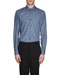 Prada - Circle Cotton Poplin Shirt - Lyst