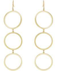 Jennifer Meyer - Three-open-circle Drop Earrings - Lyst