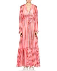 Love More Striped Chiffon Maxi Dress - Pink Mira Mikati