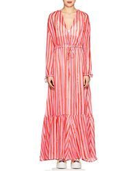 Love More Striped Chiffon Maxi Dress - Pink Mira Mikati q3dhec8AhF