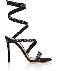 Gianvito Rossi - Leather Opera Sandals - Lyst