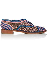 Robert Clergerie - Japam Raffia Oxfords - Lyst