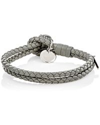 Bottega Veneta - Intrecciato Leather Double-band Bracelet - Lyst