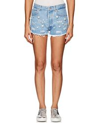 Forte Couture | Vanessa Embellished Denim Shorts | Lyst