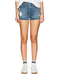 RE/DONE - High Rise Denim Cutoff Shorts - Lyst