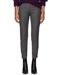 Altuzarra - Henri Pinstriped Wool-blend Flannel Slim Trousers - Lyst