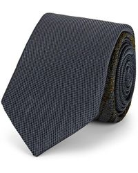Title Of Work - Embroidered Textured-silk Necktie - Lyst