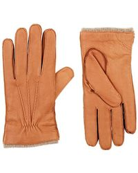 Barneys New York - Cashmere-lined Deerskin Gloves - Lyst