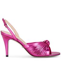 6afd5e7b8 Gucci Ilse Crystal-embellished Ankle-wrap Sandal in Pink - Lyst