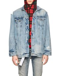 Warren Lotas - Distressed Denim Jacket - Lyst