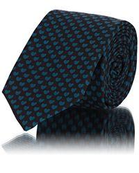 Valentino - Heart-print Silk Twill Necktie - Lyst