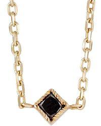 Bianca Pratt - Black Diamond Choker Necklace - Lyst