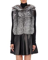 J. Mendel | Fur & Sequined Vest | Lyst