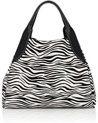 Lanvin - Trapeze Calf Hair Small Tote Bag - Lyst