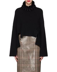 Fendi - Mink-fur-trimmed Cashmere Sweater - Lyst
