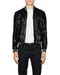 Saint Laurent - Embellished Wool Teddy Jacket - Lyst