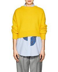 Cedric Charlier - Wool-cashmere Asymmetric Cardigan - Lyst