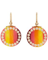 Mark Davis - Bakelite & White Topaz Drop Earrings - Lyst