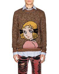 Gucci - Anime-intarsia Wool Jumper - Lyst