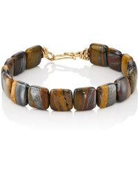 Dean Harris - Tiger Iron Beaded Bracelet - Lyst