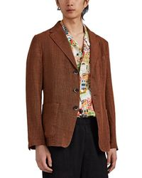 Barena - Linen-cotton Gauze Three-button Sportcoat - Lyst