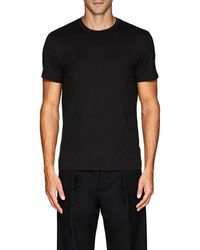 Theory - Claey Plaito Silk-cotton T-shirt - Lyst