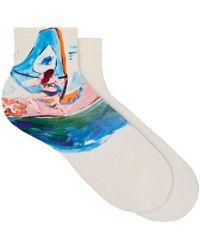 Maria La Rosa - Surfer-print Silk - Lyst