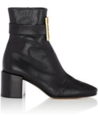 Givenchy - Logo-embellished Leather Ankle Boots - Lyst