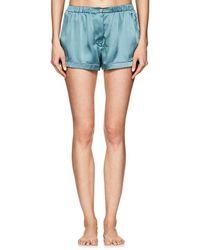 aa44274fbd20d Lyst - Araks Navy And White Polka Dot Tia Pyjama Shorts in Blue