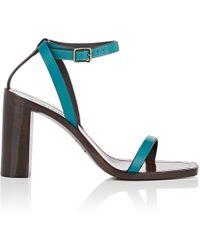 Saint Laurent - Leather Ankle-strap Sandals - Lyst