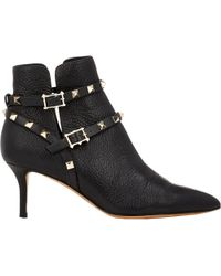 Valentino - Women's Rockstud Ankle Booties - Lyst