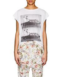NSF - Photo-print Cotton Sleeveless T - Lyst