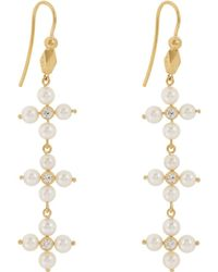Cathy Waterman - Diamond & Pearl Triple - Lyst
