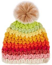 Mischa Lampert - Deep Striped Wool Beanie - Lyst