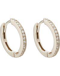 Bianca Pratt - White-diamond Huggie Hoop Earrings - Lyst