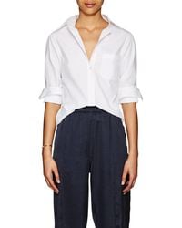 Barneys New York - Cotton Poplin Slim Shirt - Lyst