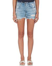 3x1 - Stripped Shelter Denim Cutoff Shorts - Lyst