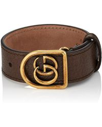 Gucci - Marmont Leather Bracelet - Lyst